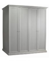 Спальня Амели Ярцево Шкаф 4-х створчатый для платья и белья без зеркала ШхГхВ 1880х630х2370