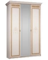 Спальня Карина 3 бежевый Ярцево Шкаф 3х створчатый для платья и белья 1 зеркало К3Ш1-3 1490х590х2270