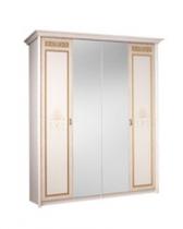 Спальня Карина 3 бежевый Ярцево Шкаф 4х створчатый для платья и белья 2 зеркала К3Ш1-4 1910х590х2270