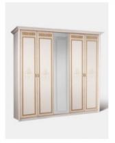 Спальня Карина 3 бежевый Ярцево Шкаф 5-ти створчатый для платья и белья К3Ш1-5 2355х590х2270