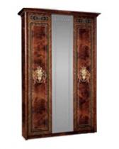 Спальня Карина 3 Шкаф 3х створчатый для платья и белья 1 зеркало К3Ш1-3 1490х590х2270