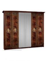 Спальня Карина 3 Шкаф 6ти створчатый для платья и белья 2зеркала К3Ш1-6 2780х590х2270