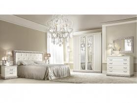 Спальня классическая Тиффани штрих серебро