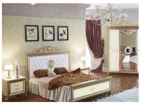 Спальня классическая Версаль СВ-3 Кровать с печатью на 1600 без Короны