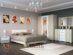 Спальня Лагуна-2 Белый глянец