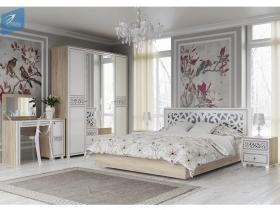 Спальня Мадлен МДФ Фотопечать Серебро