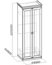 Спальня Монпелье Шкаф для одежды 1 864х633х2252