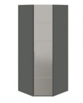 Спальня Наоми Шкаф угловой с 1-й зеркальной правой дверью СМ-208.07.07 R 2181х895х580 мм
