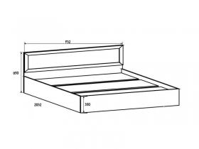 Спальня Вега СВ ВМ-14 Кровать 90-200