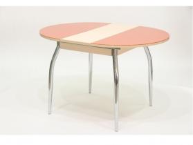 Стол круглый раздвижной со стеклом Гала 3 Дуб оранжевый