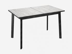 Стол Монте-Карло раздвижной Бискайская сосна-черный металл