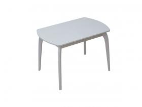 Стол обеденный раздвижной со стеклом Элен белый