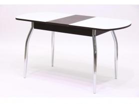 Стол обеденный раздвижной со стеклом Гала 1 лдсп венге - стекло белое