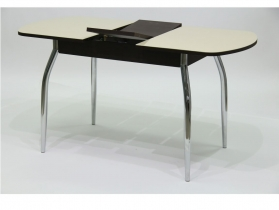 Стол обеденный раздвижной со стеклом Гала 1 лдсп венге - стекло песочное