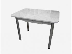 Стол обеденный с ящиком Маэстро калаката глянец-белый