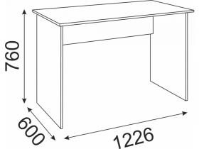 Стол прямой Волкер М08 ШхВхГ 1226х760х600 мм