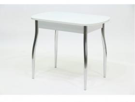 Стол со стеклом Гала 5 белый