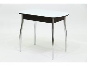 Стол со стеклом Гала 5 венге-белый