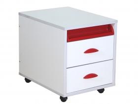 Тумба ТУВ 01-01 Белый красный