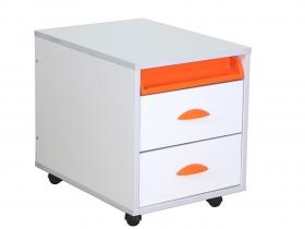 Тумба ТУВ 01-01 Белый оранжевый