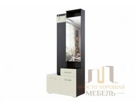 Вешалка с зеркалом 0,8 МС №1 СВ Дуб венге-Жемчуг