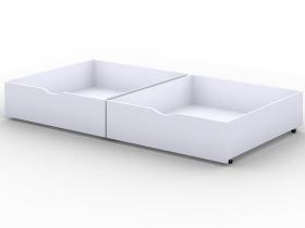 Ящики выкатные для кровати Viki Белый